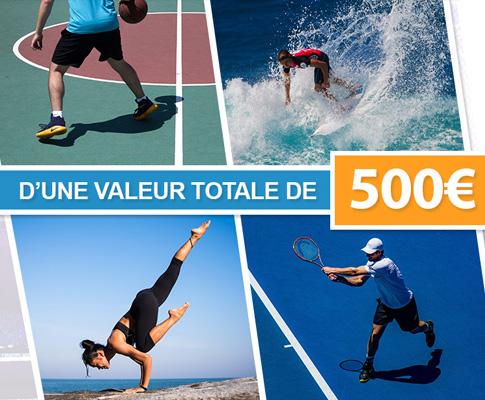Tentez de remporter 500 euros de bons d'achats en magasin de sport !
