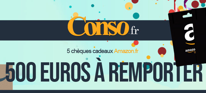 5 chèques cadeaux Amazon.fr