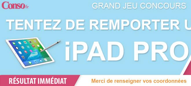 Gagnez un iPad Pro