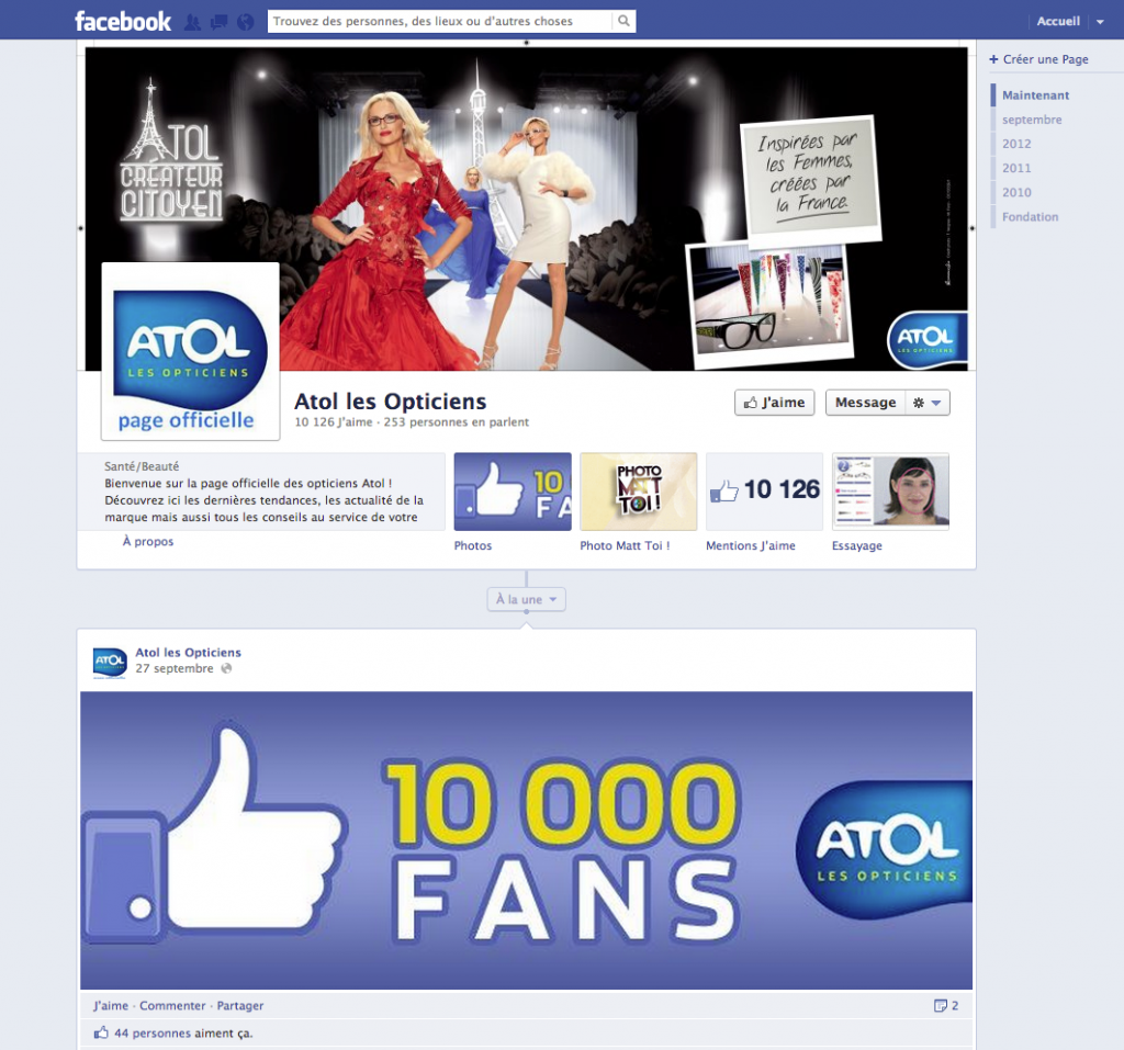 Atol les Opticiens Concours Facebook