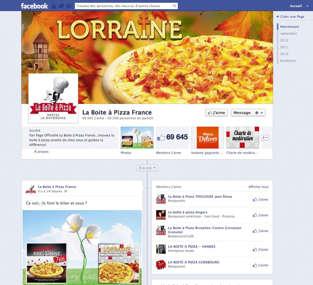 La boite à Pizza France Concours Facebook